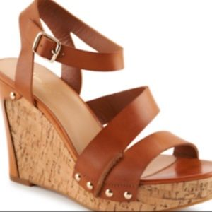 Lime Light Brown and Beige Wedges
